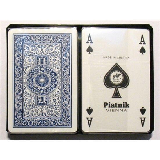 Piatnik 100% plasztik bridzs/römi kártya, standard index, dupla csomag