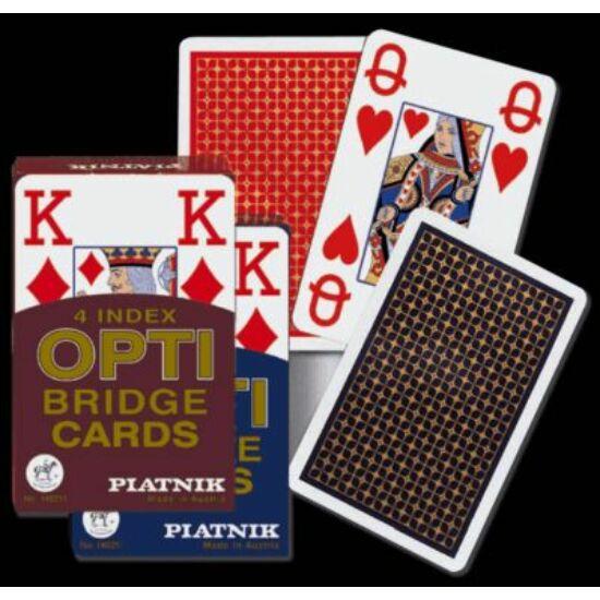 OPTI bridzs kártya, 4 Jumbo index, 1 csomag
