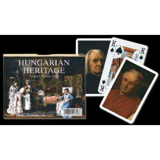 Munkácsy Festmények (Hungarian Heritage), luxus bridzs/römi kártya, dupla csomag