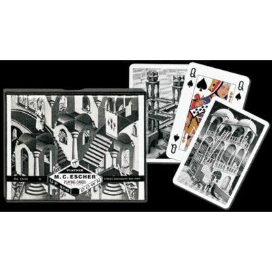 "M. C. Escher  ""Up and Down"", luxus bridzs/römi kártya, dupla csomag"