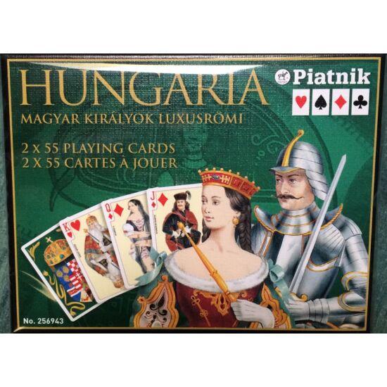 Magyar Királyok, luxus bridzs/römi kártya, dupla csomag