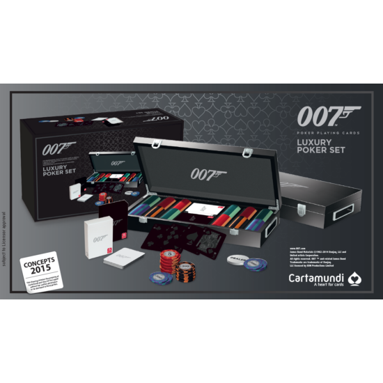 James Bond Luxury Poker Set (300 db-os exclusive zsetonkészlet)