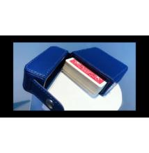 MAZE bőr kártyatok - kék