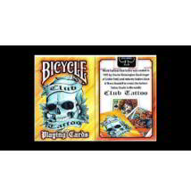 Bicycle Club Tattoo kártya - sárga, 1 csomag