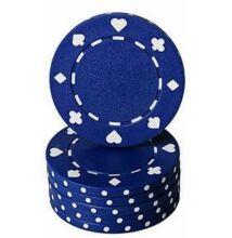 Classic Suited design póker zseton, kék - 25-pack