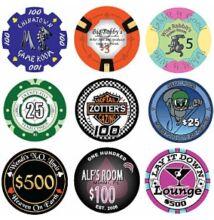 Egyedi kerámia póker zseton, 5000+ db esetén, ár/db