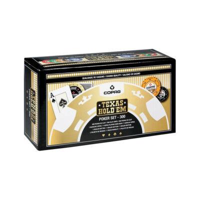 COPAG póker zsetonkészlet, 300 db-os
