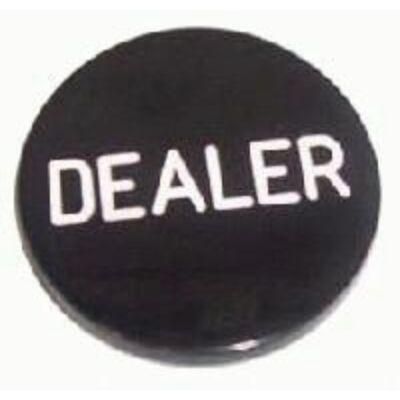 Black Dealer Button (fekete osztógomb pókerhez)