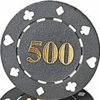 Suited & Numbered póker zseton, 500 - 25-pack