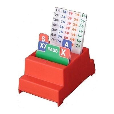 Neo Bidding Box Set (4 db-os Neo bridzs licitkártya készlet, a klasszikus magas dobozos)